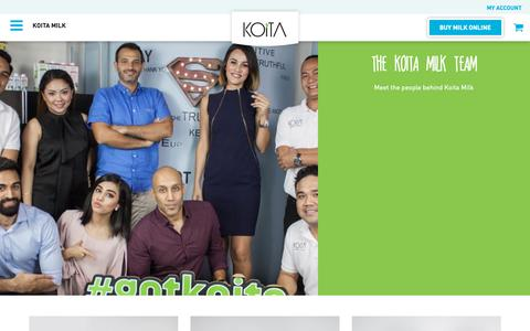 Screenshot of Team Page koita.com - The Koita Milk Team | Koita Milk - captured Dec. 20, 2018