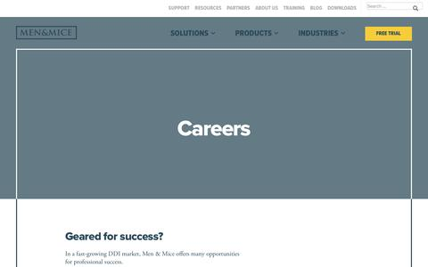 Screenshot of Jobs Page menandmice.com - Careers - Men & Mice - captured May 28, 2017