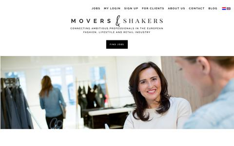 Screenshot of Home Page moversshakers.nl - Movers & Shakers | Fashion en Lifestyle Recruitment - captured Oct. 20, 2018