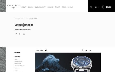 Ulysse Nardin | Kering