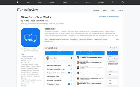 Micro Focus TeamWorks on the App Store