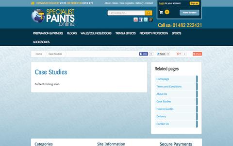 Screenshot of Case Studies Page specialistpaintsonline.co.uk - Specialist Paint Case Studies, Expert Paint Knowledge and Advice. - captured Oct. 9, 2014