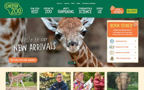 Screenshot of Home Page chesterzoo.org - Visit Chester Zoo - captured May 16, 2017
