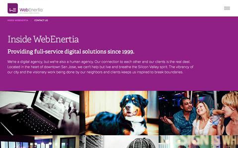 Screenshot of Jobs Page webenertia.com - WebEnertia   Inside WebEnertia - captured Feb. 24, 2016