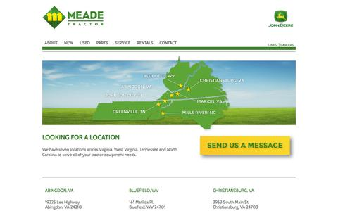 Screenshot of Locations Page meadetractor.com - Meade Tractor | Locations - captured Oct. 27, 2014
