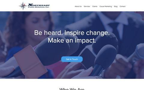 Screenshot of Home Page northeastpr.com - Northeast Public Relations, Inc. – Marketing and PR Firm - captured Nov. 30, 2016