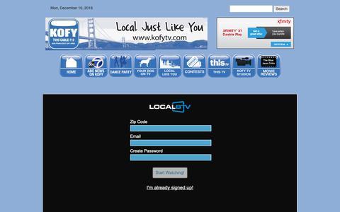 Screenshot of Home Page kofytv.com - KOFY TV - captured Dec. 10, 2018
