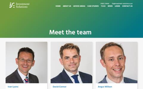 Screenshot of Team Page investment-solutions.co.uk - Meet the team | Investment Solutions Worthing & South Coast - captured Oct. 12, 2018