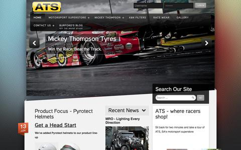 Screenshot of Home Page ats-motorsport.co.za - ATS-Motorsport :: Africa's No 1 Portal for all your Motorsport and Enthusiast Equipment :: - captured Feb. 8, 2018