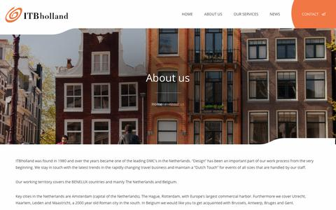Screenshot of About Page itbholland.com - About us - ITBholland - captured Nov. 10, 2019