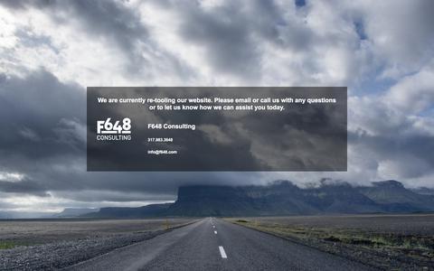 Screenshot of Home Page foundation648.com - Under Construction - captured Aug. 17, 2018