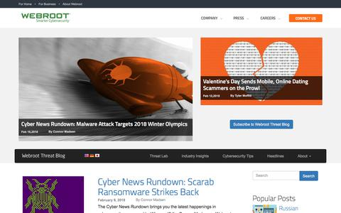 Webroot Threat Blog | Internet Security Threat Updates & Insights