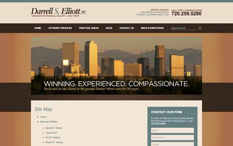 Screenshot of Site Map Page darrellselliott.com - Site Map - captured Oct. 5, 2014