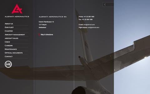 Screenshot of Contact Page albinati.aero - Albinati Aeronautics S.A. - Professional Aviation Solutions - captured Oct. 4, 2014