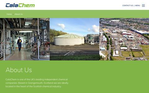 Screenshot of About Page calachem.com - About Us   CalaChem Fine Chemicals - captured Sept. 26, 2018