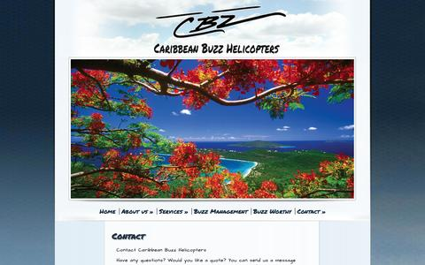 Screenshot of Contact Page caribbean-buzz.com - Contact - Caribbean Buzz - captured Oct. 1, 2014