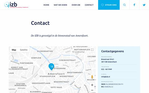 Screenshot of Contact Page izb.nl - Contact - IZB - captured Sept. 10, 2018