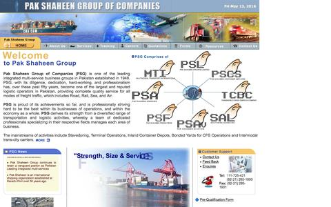 Screenshot of Home Page pakshaheen.com.pk - :: Pak Shaheen Group of Companies :: Multi-Service Business Groups in Pakistan - captured May 14, 2016