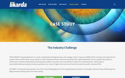 Screenshot of Case Studies Page likarda.com - Case Studies | Likarda - captured Sept. 28, 2018