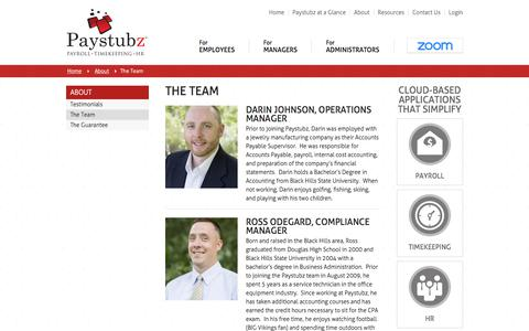 Screenshot of Team Page paystubz.com - The Team | Paystubz - captured July 16, 2018