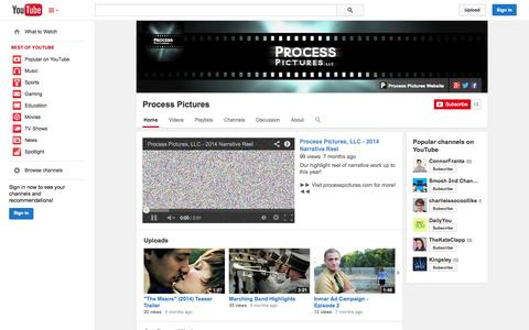 Screenshot of YouTube Page youtube.com - Process Pictures  - YouTube - captured Nov. 2, 2014