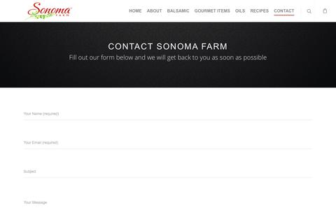 Screenshot of Contact Page sonomafarm.com - Contact – Sonoma Farms - captured Nov. 7, 2017