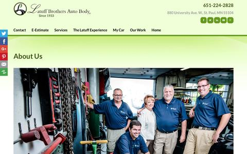 Screenshot of About Page latuffbrothers.com - Body Shop Roseville, White Bear Lake, Maplewood MN | Latuff Brothers Auto Body - captured Dec. 14, 2018