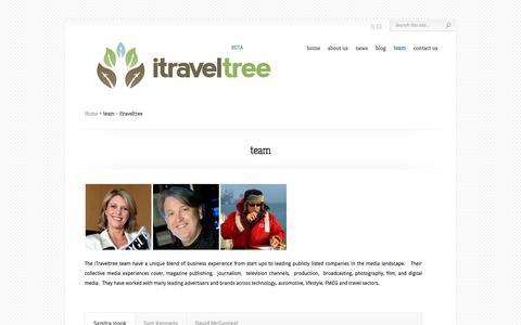 Screenshot of Team Page itraveltree.com - team - itraveltree - captured Oct. 6, 2014