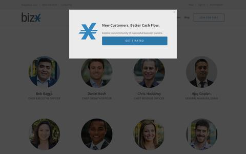 Screenshot of Team Page bizx.com - Team – BizX - captured Sept. 16, 2018