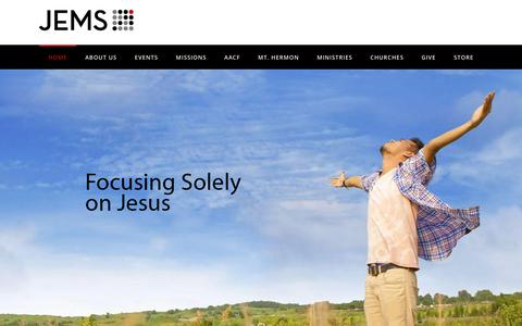 Screenshot of Home Page jems.org - Jems.org | Japanese Evangelical Missionary Society – Enabling Japanese and those of asian descent to be authentic disciples of Jesus Christ. - captured Oct. 16, 2017