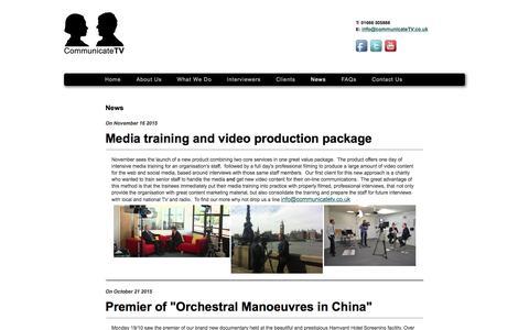 Screenshot of Press Page communicatetv.co.uk - Communicate TV - captured Dec. 10, 2015