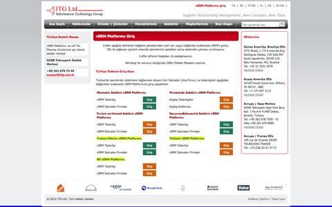 Screenshot of Login Page vitg.com - ITG Ltd - Information Technology Group - ITG Ltd. -Tedarik Zinciri Yönetimi - captured Feb. 10, 2016