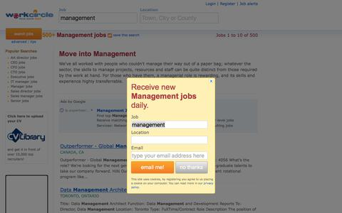 Screenshot of Team Page workcircle.co.uk - Management jobs | Workcircle UK - captured Feb. 14, 2018