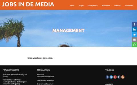 Screenshot of Team Page jobsindemedia.nl - management   Jobs in de Media - captured Feb. 3, 2018