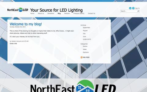 Screenshot of Blog northeastled.com - Blog - captured Oct. 1, 2014