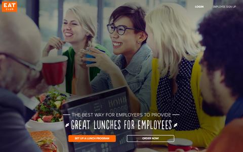 Screenshot of Home Page myeatclub.com - Corporate Catering Services | EAT Club - captured Jan. 14, 2015
