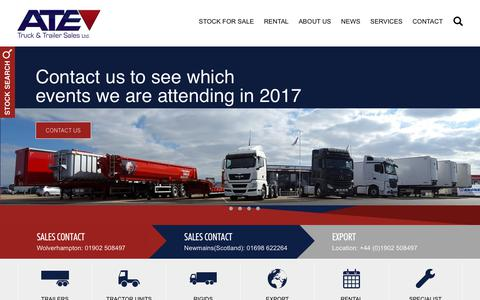 Screenshot of Home Page ate-trailers.co.uk - Welcome - ATE Truck and Trailer Sales Ltd - captured Oct. 7, 2017