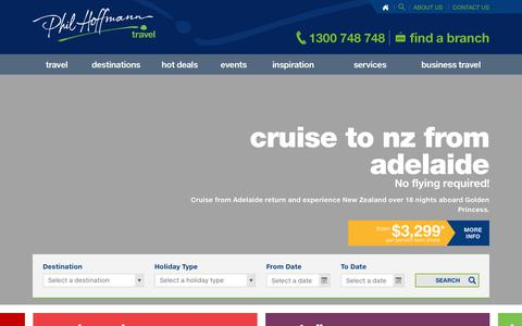 Screenshot of Home Page pht.com.au - Adelaide Travel Agency | Travel Agent Adelaide | Phil Hoffmann Travel - captured July 30, 2017