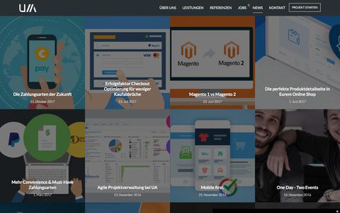 Screenshot of Press Page unifiedarts.de - Agentur News - eCommerce Blog - Magento & Shopware   UNIFIED ARTS - captured Oct. 11, 2017