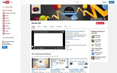 Screenshot of YouTube Page youtube.com - Novius OS  - YouTube - captured Nov. 4, 2014