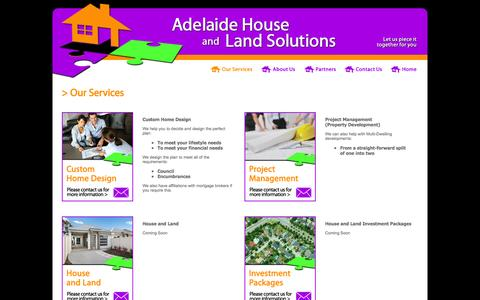 Screenshot of Services Page ahalsolutions.com.au - Adelaide House and Land Solutions > Services - captured Feb. 5, 2016