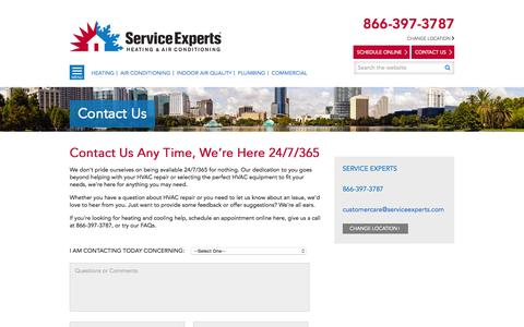 Contact Us | Service Experts in your city