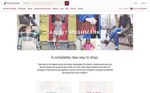 Screenshot of About Page poshmark.com - About Poshmark - captured Feb. 16, 2017