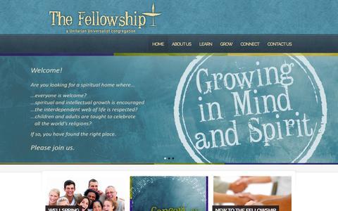 Screenshot of Home Page fvuuf.org - Fox Valley Unitarian Universalist Fellowship | Fox Valley Unitarian Universalist Fellowship - captured Oct. 6, 2014