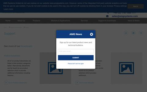 Screenshot of Support Page amgsystems.com - Support | AMG Systems - captured Oct. 2, 2018