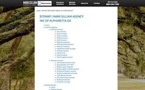 Screenshot of Site Map Page markgilliaminsurance.com - Sitemap | Mark Gilliam Agency Inc of Alpharetta GA - captured Oct. 27, 2014