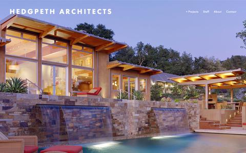 Screenshot of Home Page hedgpetharchitects.com - Hedgpeth Architects - captured Nov. 30, 2018