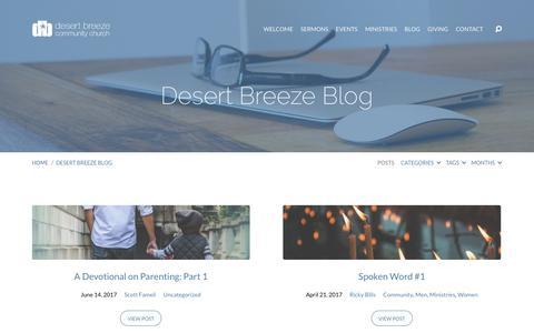 Screenshot of Blog dbcc.com - Desert Breeze Blog | Desert Breeze Community Church - captured Oct. 12, 2017