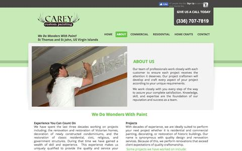 Screenshot of About Page careycustompainting.com - Painters in Greensboro-About Carey Custom Painting - captured May 14, 2017