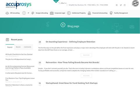 Screenshot of Blog accuprosys.com - Blog page - - captured Feb. 5, 2016